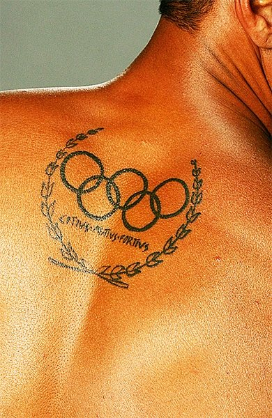 Татуировка олимпийские кольца