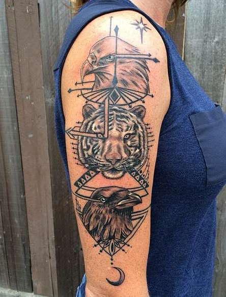 Татуировка тотемных животных