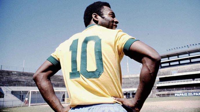 Resultado de imagem para Camisa 10 da seleção Pele