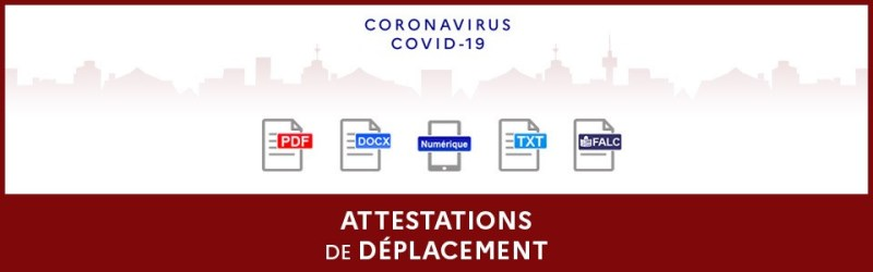 Attestations de deplacement largeur 960