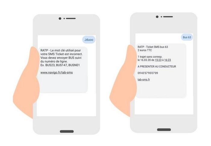 sms ticket ratp