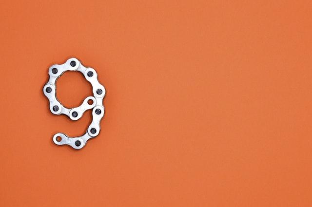 9 in bike chain