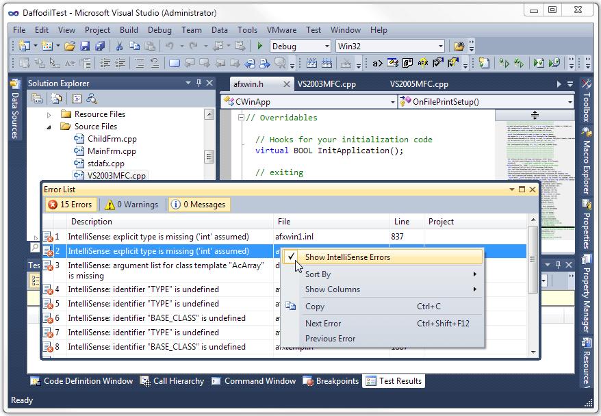 How to fix IntelliSense errors in Visual Studio – Outside The Box