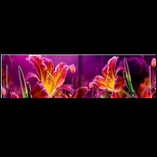 Экран под ванну Огненная лилия