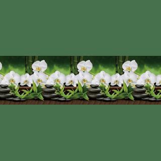 """Фартук для кухни из ABS пластика """"Орхидеи белые"""""""