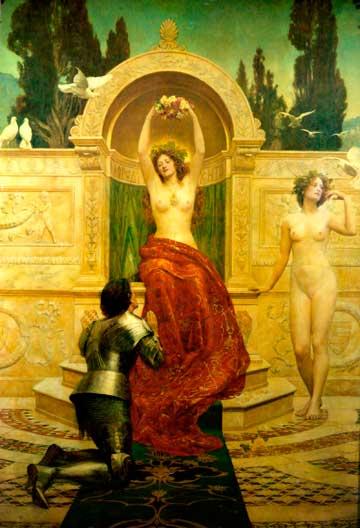 Джон Кольер, «Тангейзер на Венериной горе», 1901