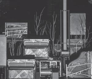 Сцена из музыкального представления-инсталляции Хайнера Гёббельса «Вещь Штифтера», Theatre Vidy Lausanne, T&M-Nanterre Paris и др., 2007