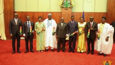 Photo of President Akufo-Addo swears in eight new Envoys