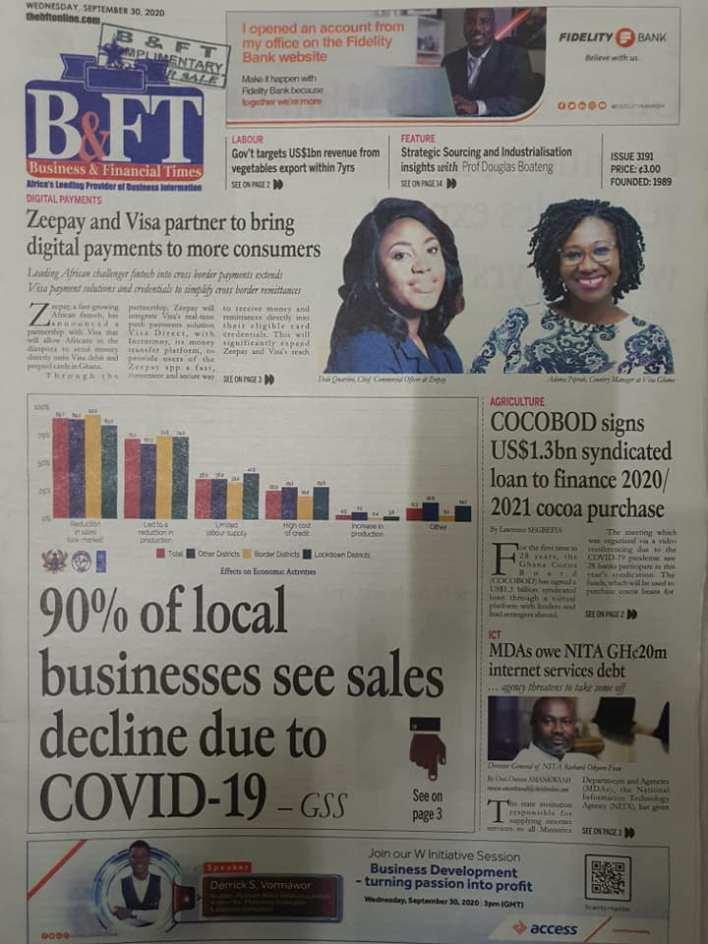 Newspaper headlines of Wednesday, September 30, 2020 95