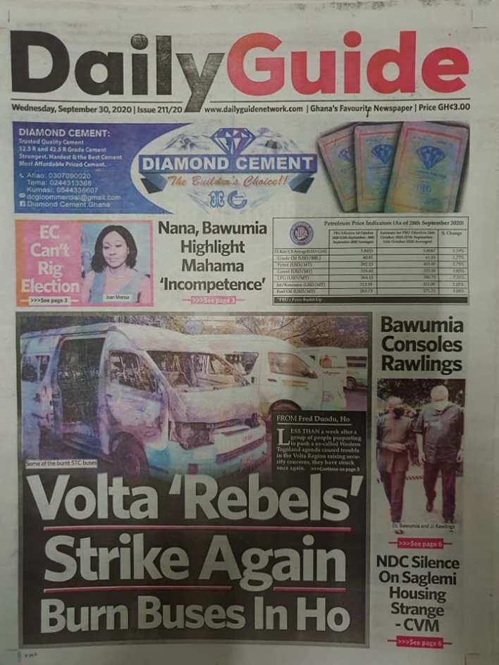 Newspaper headlines of Wednesday, September 30, 2020 93