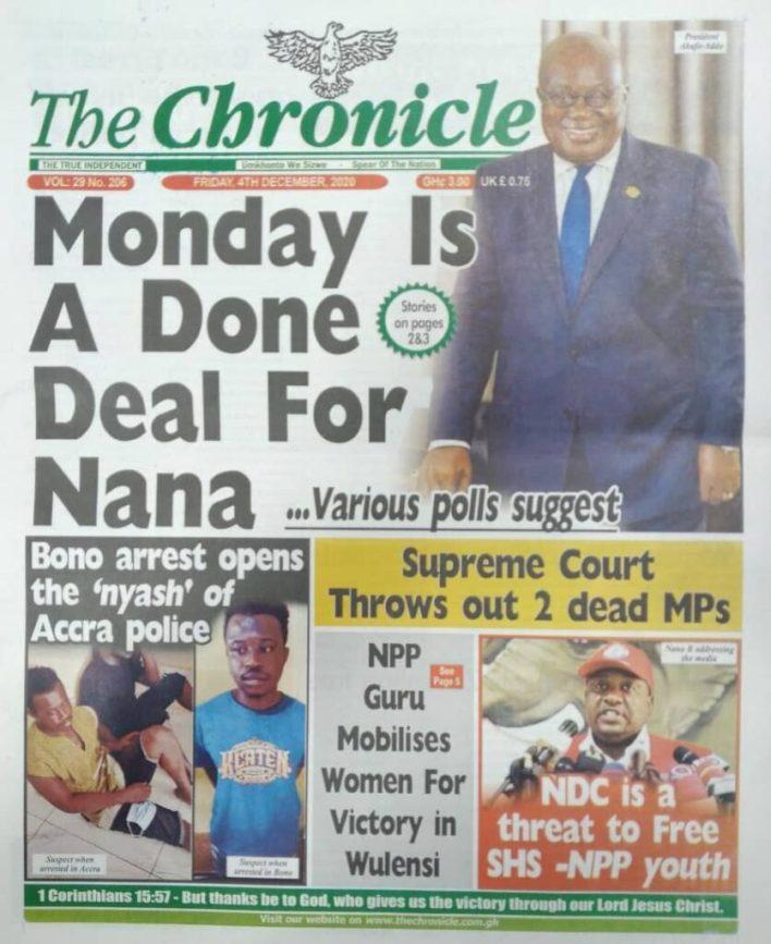 Newspaper headlines of Friday, December 4, 2020 45
