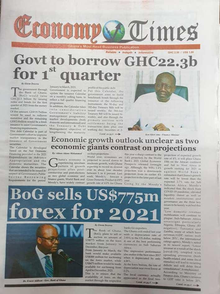 Newspaper headlines of Monday, January 18, 2021 83