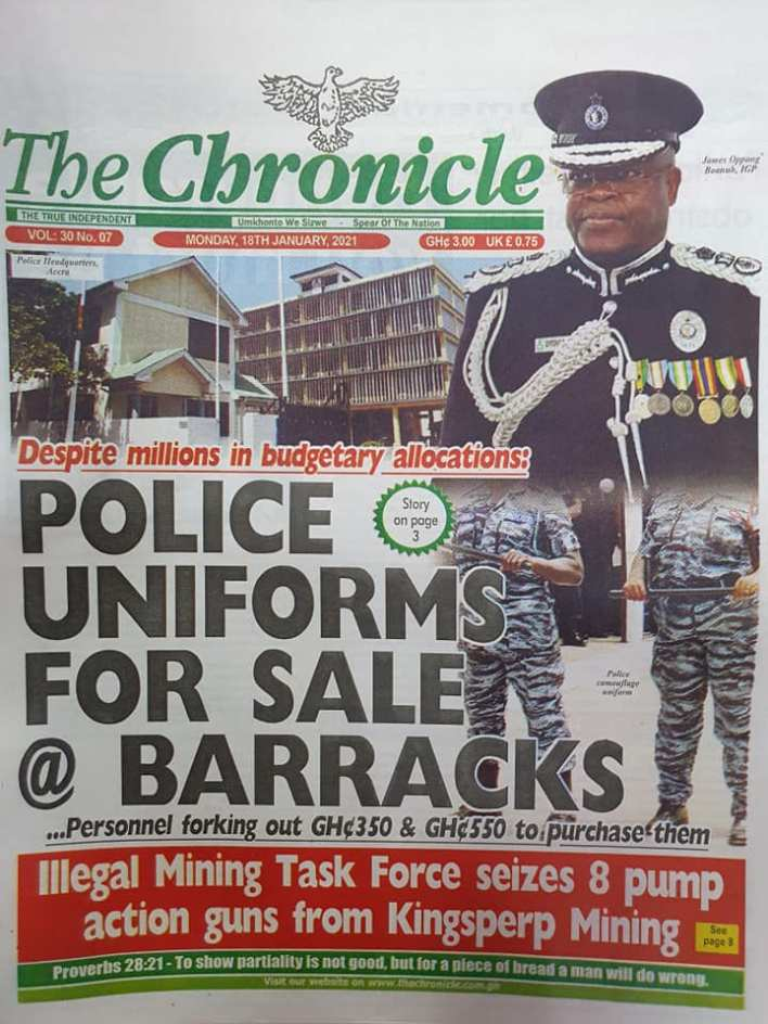 Newspaper headlines of Monday, January 18, 2021 89