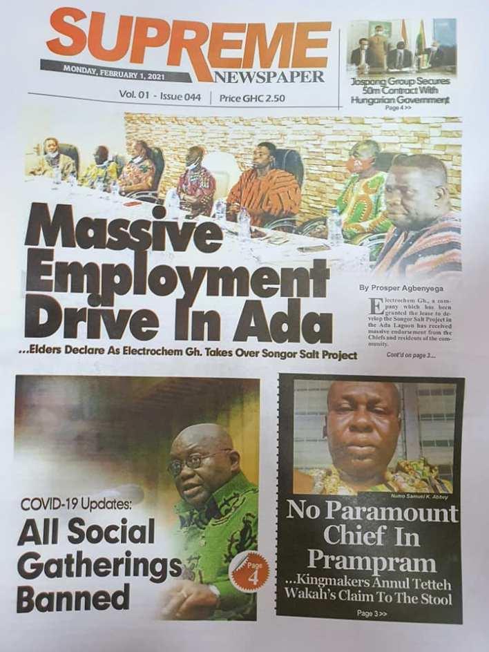 Newspaper Headlines Of Today February 1st 2021 88