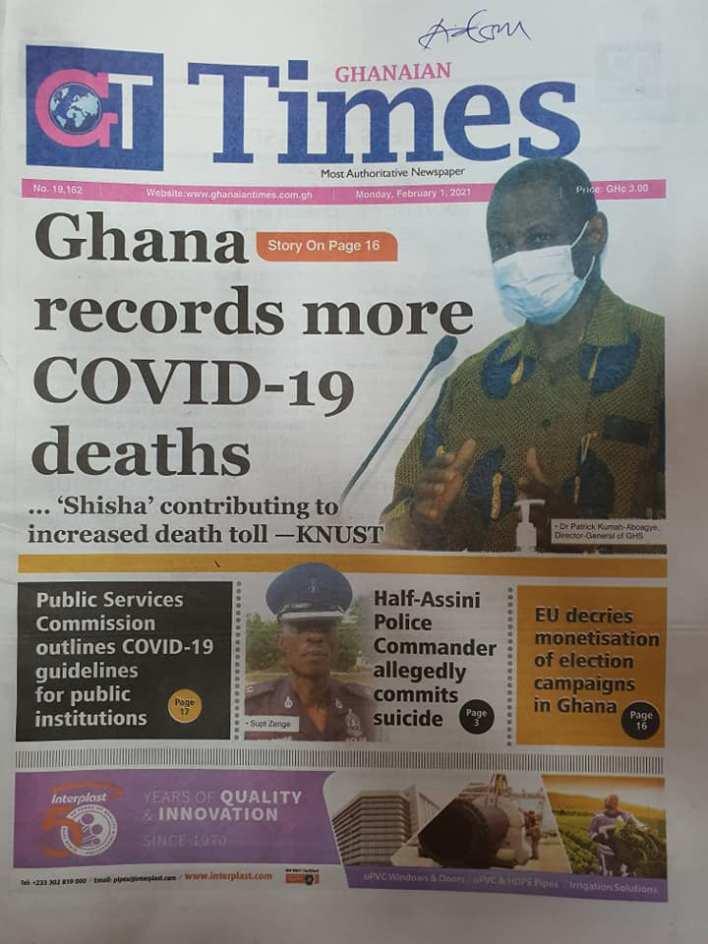 Newspaper Headlines Of Today February 1st 2021 91