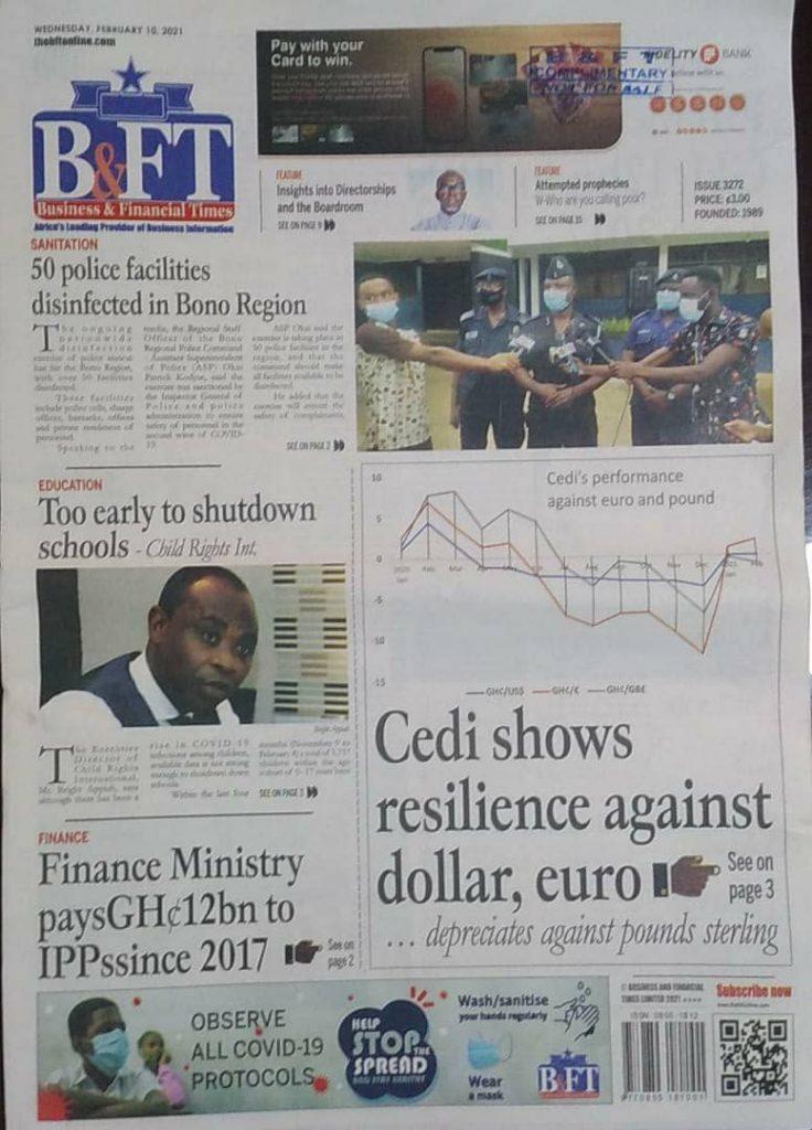 Newspaper headlines of Wednesday, February 10, 2021 21