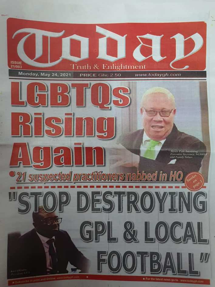 Today's Newspaper headlines: Monday, May 24th ,2021 20