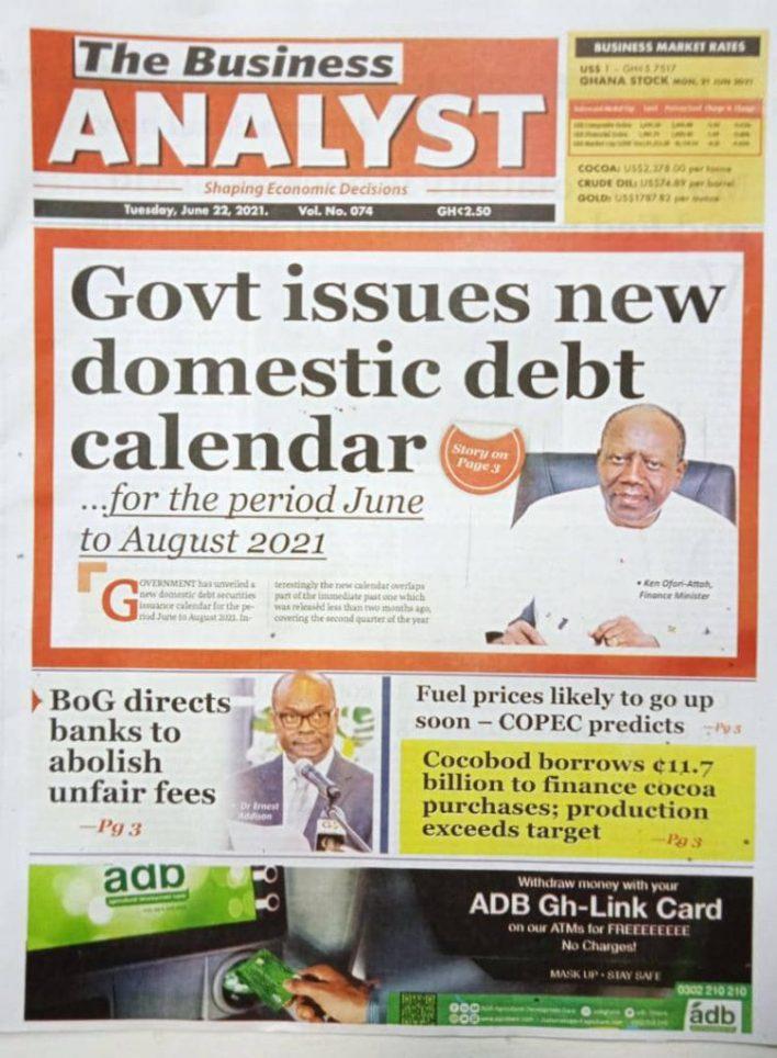 Newspaper headlines of Tuesday, June 22, 2021 7