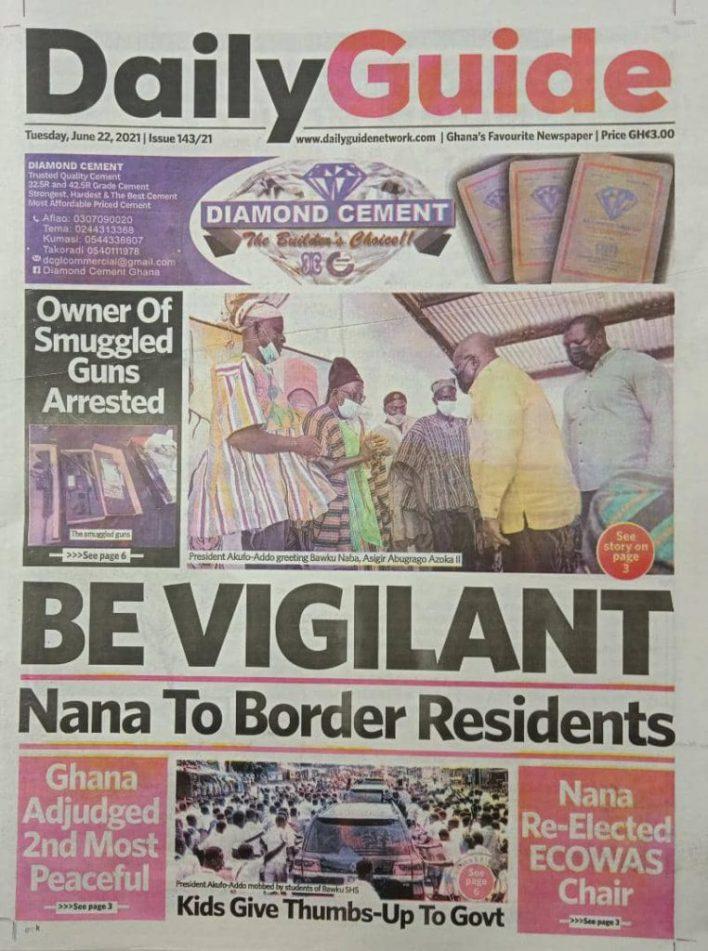 Newspaper headlines of Tuesday, June 22, 2021 10