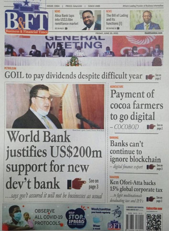Newspaper headlines of Friday, June 25, 2021 24
