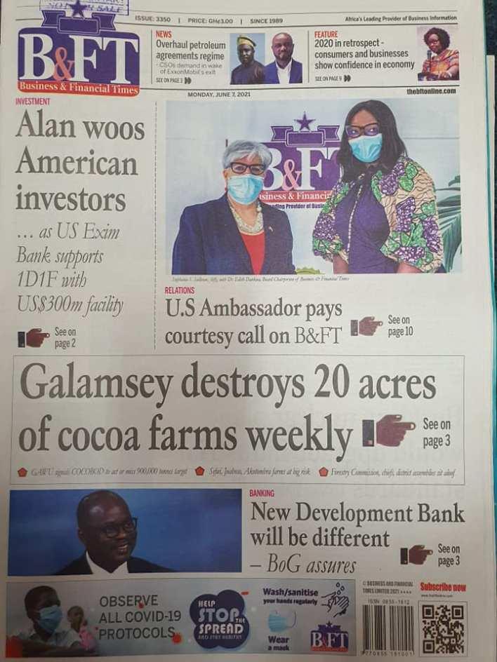 Newspaper headlines of Monday, June 7, 2021 16