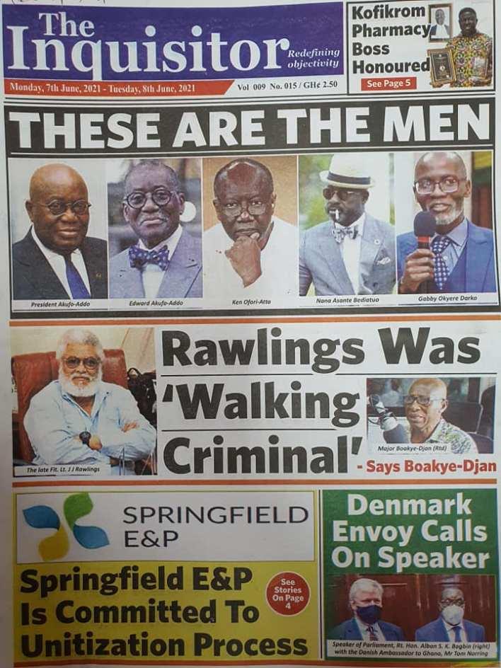 Newspaper headlines of Monday, June 7, 2021 3
