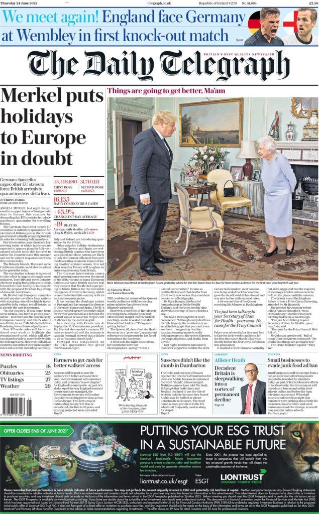 Newspaper headlines of Monday, June 28, 2021 4