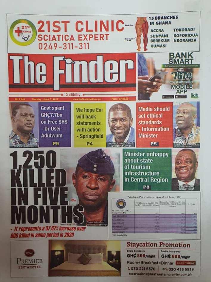 Newspaper headlines of Monday, June 7, 2021 12