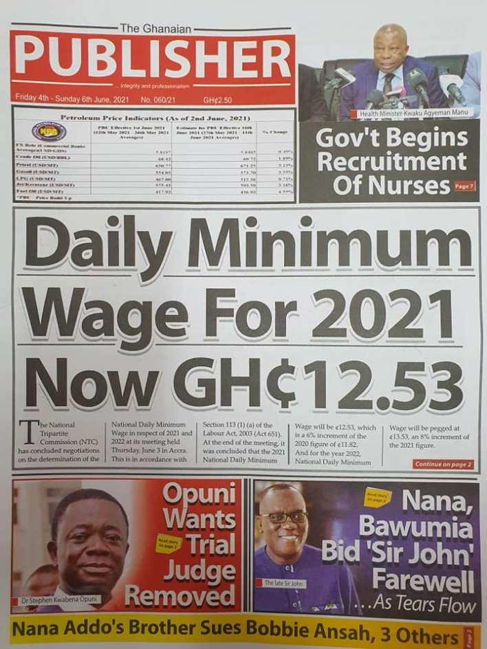 Newspaper headlines of Friday, June 4, 2021. 130