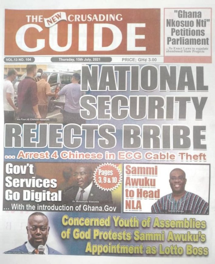 Today's Newspaper Headlines Of Thursday July 15, 2021 3