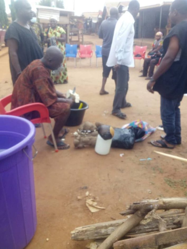 SHS girl's suicide: Sunyani Traditional Council performs rituals to appease gods(Video+pictures) 1
