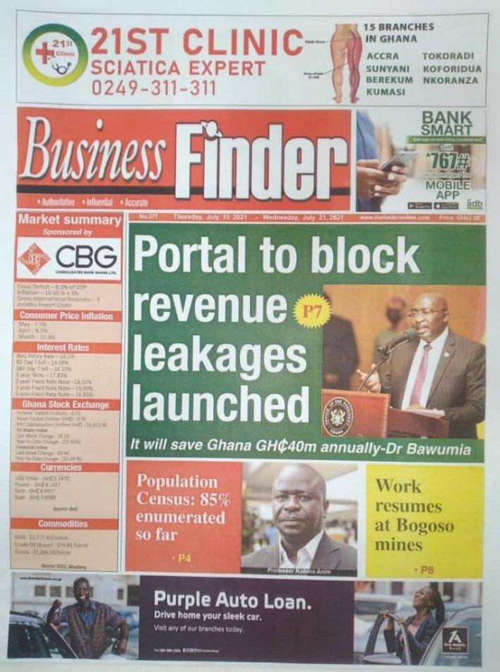 Today's Newspaper Headlines Of Thursday July 15, 2021 5