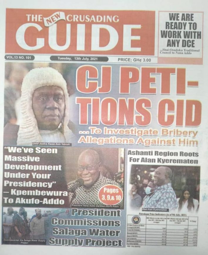 Today's Newspaper Headlines, Tuesday July 13, 2021 7