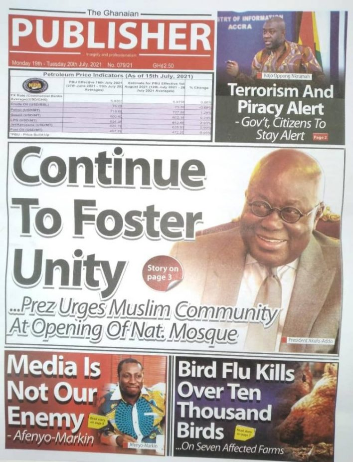 Today's Newspaper Headlines Of Monday July 19, 2021 10
