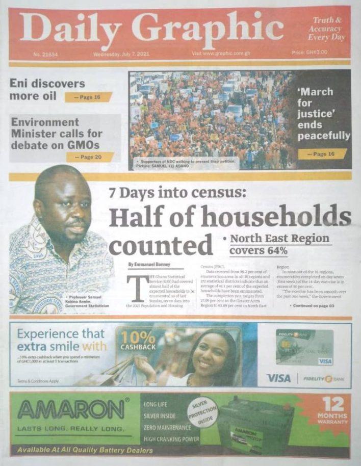 Newspaper headlines of Wednesday, July 7, 2021 9
