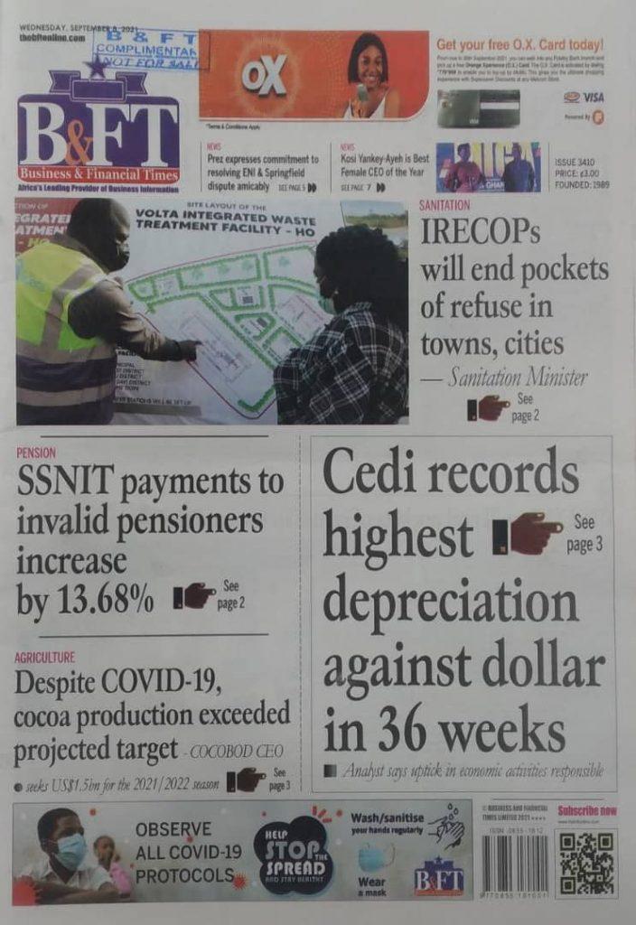 Newspaper Headline Of Wednesday, September 8, 2021 4