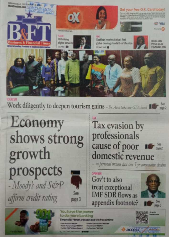 Newspaper Headline Of Wednesday, September 15, 2021 2