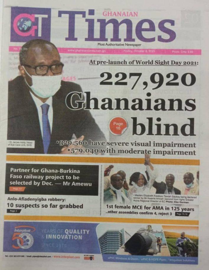 Newspaper headlines of Friday, October 8, 2021 7