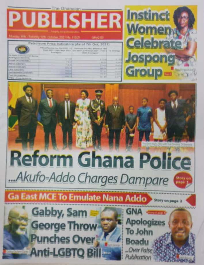 Newspaper Headline Of Monday, October 11, 2021 9
