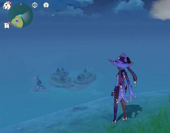 Игроки могут скользить к острову (Изображение через Sportskeeda)