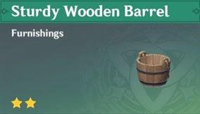 Прочная деревянная бочка