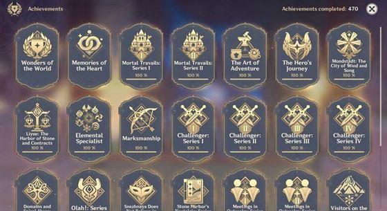 Новые достижения могут быть добавлены в версии 2.2 (Изображение предоставлено Genshin Impact)