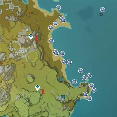 Карта расположения фермерского хозяйства Starconch 2, берег Гулинской равнины