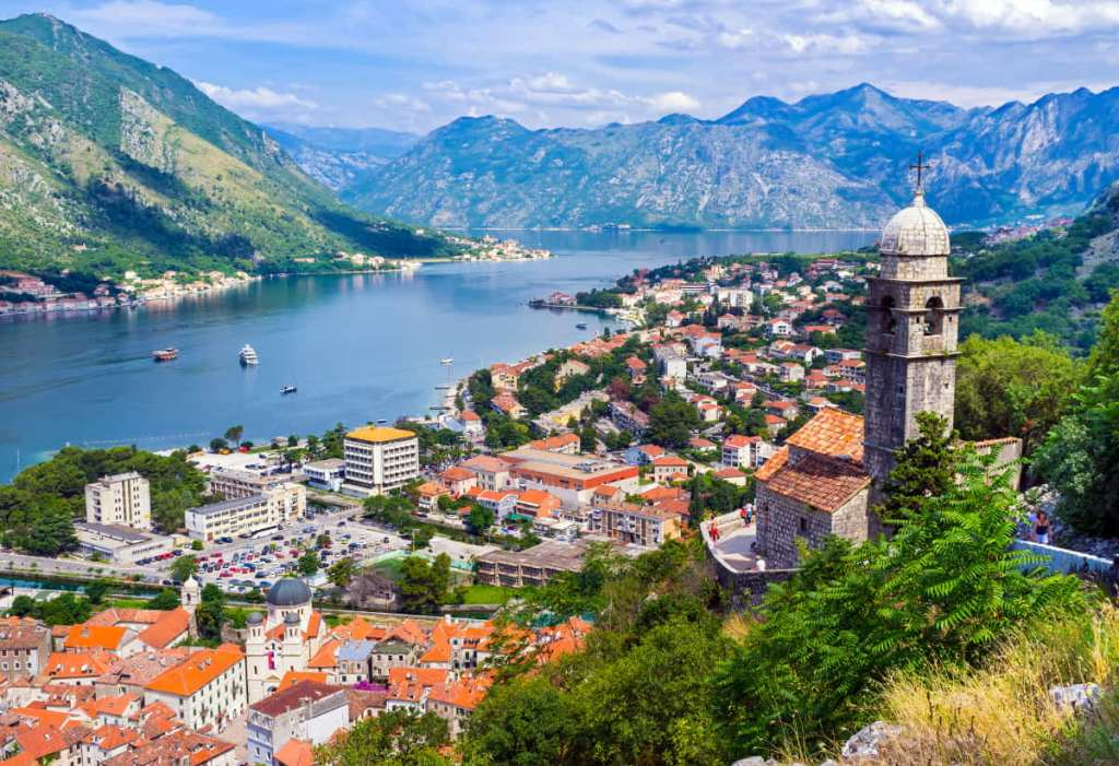 View of Kotor's Old Town in Montenegro