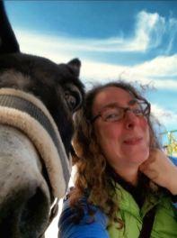 Beth Rubin with a friend in Locorotondo