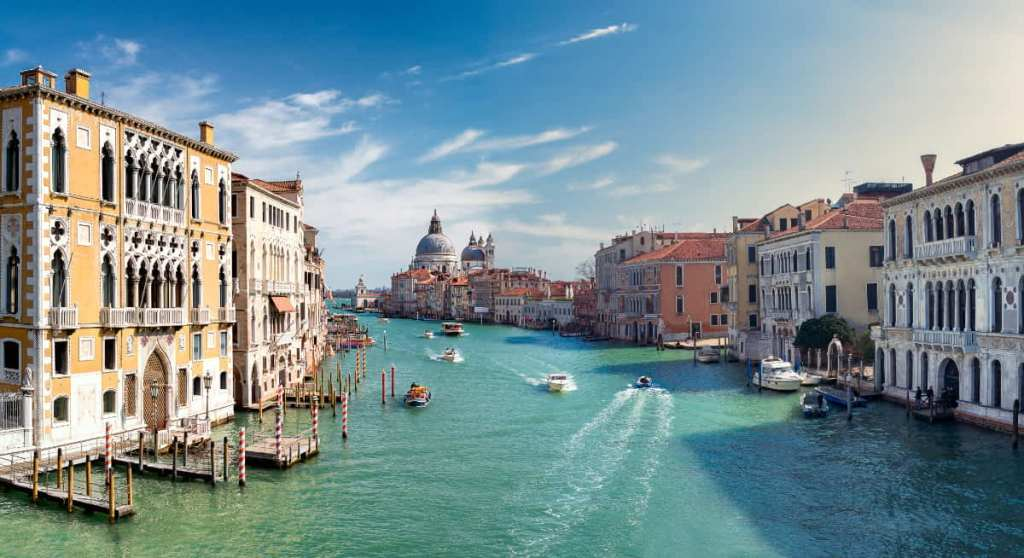 View from the Accademia Bridge on Venice's Grand Canal