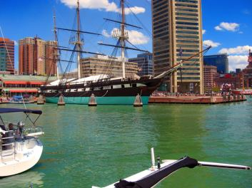 The USS Constellation in Baltimore, Maryland