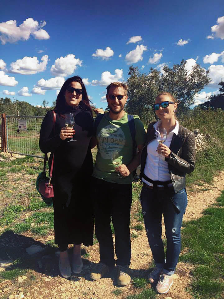 At an olive oil tasting in Istria