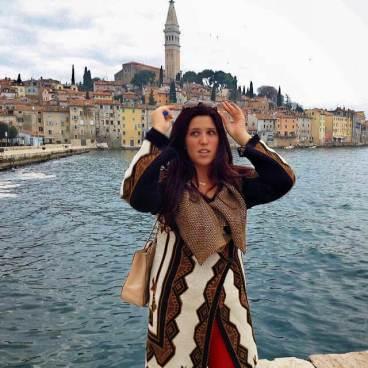 Posing in picturesque Rovinj, Croatia