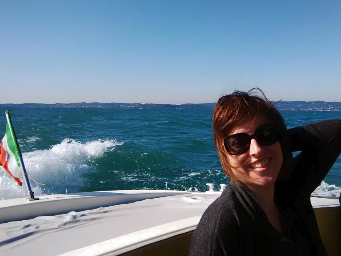 Boating on Lake Garda in Italy
